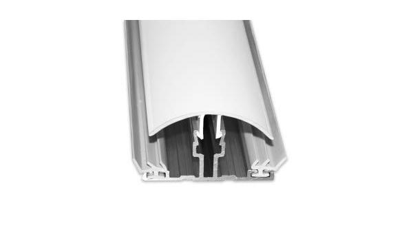 weiss 2000 mm 10 16 mm Verbindungsprofil Alu//PVC-Klemmprofil