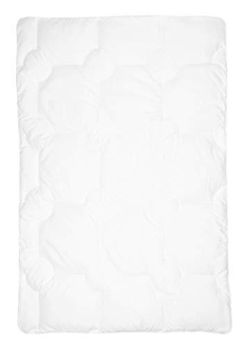 Zollner Kinder Bettdecke, 100x135 cm, Mikrofaser, waschbar, ÖkoTex, weiß