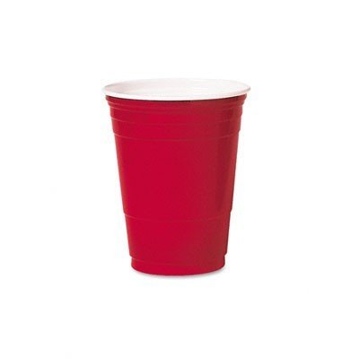 Solo Red American Plastic Party Cups 16oz / 473ml - Pack of 50 (Cups Red Party)