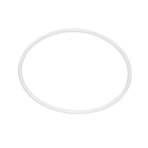 10 Unids 16 cm Dreamcatcher Aro Redondo Anillo de Envoltura de Anillo de Plástico Blanco Círculo de Plástico para DIY Manual Hecho A Mano de Mimbre Artesanía Material de la Herramienta accesorios