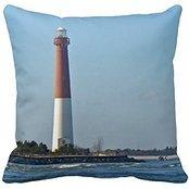 Barnegat Lighthouse Long Beach Island New Jersey Pillow Case - Long Beach Island, New Jersey