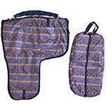 AJ Tack Wholesale Western Sattel Carrier Zaumzeug Halfter Tasche Set 600D Wasserdicht Gepolsterte Azteken Print