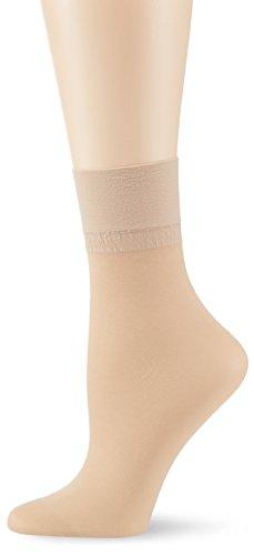 KUNERT Damen Glanz Fein Socken, 163000 Satin Look 20, Gr. 35/38, Hautfarben (Teint 3520)