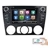 HIZPO Autoradio Multimedia Player für BMW E 90 E91 E92 mit GPS Navi Unterstützung Bluetooth Subwoofer USB MicroSD 7
