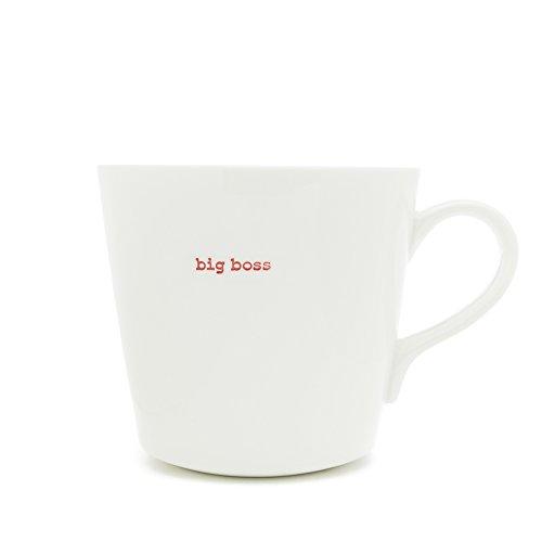Keith Brymer Jones Mug Super Big Boss Porcelaine Blanc
