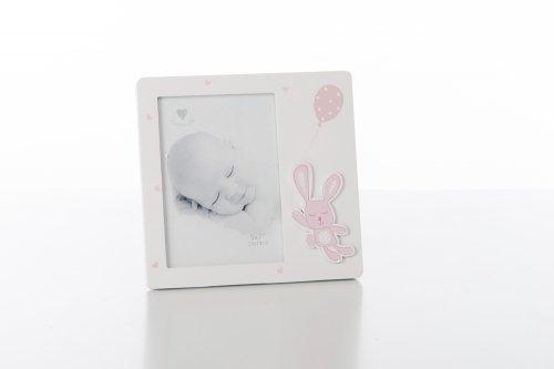 Cuorematto bomboniere solidali 2017 cuorebimbo portafoto cornice 13x18 rosa coniglietto femmina nascita battesimo