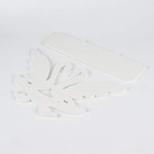 Lofenlli Mode Bois Et Amour De Haute Qualité en Forme De Cygne Design Blanc en Bois Étagère De Rangement Montée sur Support De Rangement Décor