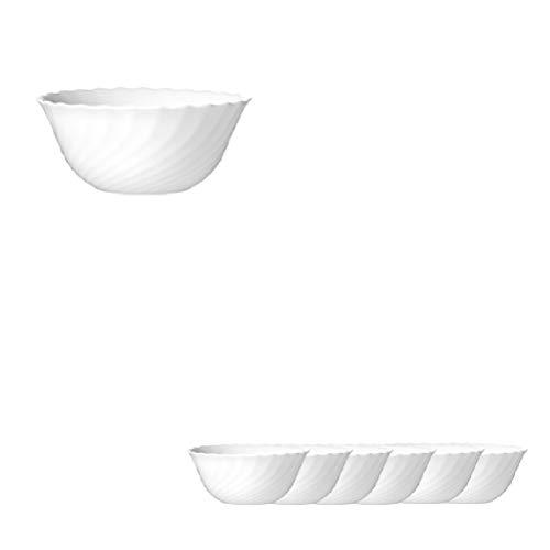 Arc International Esmeyer 441-035 6er Pack Salatschale TRIANON mit einem Durchmesser von 12 cm Hartglas Made in Europe, (Jahr Diesem Super-bowl-farben In)