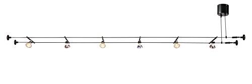 SLV tenseo Basse Tension Kit de corde (tout inclus), aluminium, GU5.3, 5W, Noir, 1000x 18,5x 4,7cm, 14unités
