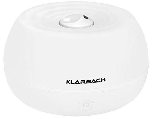 KLARBACH Luftbefeuchter & Aroma Diffusor LB 30806 we | Luftwäscher | Raumbefeuchter | Luftbefeuchter mit Licht | für ätherische Öle | 7 LED Farben | weiß