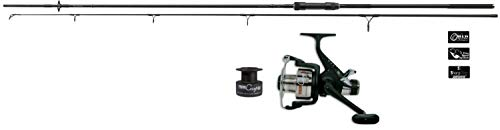 Daiwa/Lineaeffe Karpfencombo Karpfenrute 3,00m / 2,00lbs + Freilaufrolle Black Widow Angelset