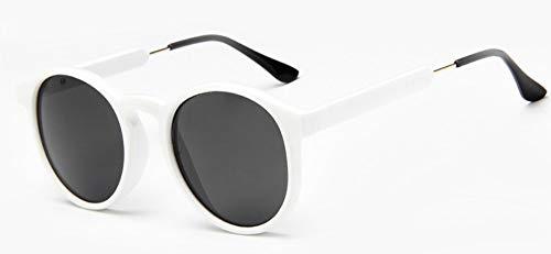 Sonnenbrille Jahrgang Frauen Runde Sonnenbrille Designer Männer Schlüsselloch Dicke Frame Sonnenbrillen Weiblichen Sonnenbrille Uv400 Weiß Schwarz