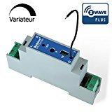 Qubino ZMNHSD1 Din Dimmer EU Hutschienenmontage Z-Wave Plus, 1 Stück, Schwarz, Blau - 24v 5 Din-module