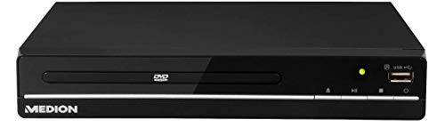 MEDION E71021 DVD-Player (HDMI, USB, Xvid, MPEG4, MP3, Fotos, mehrsprachiges OSD, Regionalceode 2, PAL NTSC,Fernbedienung)