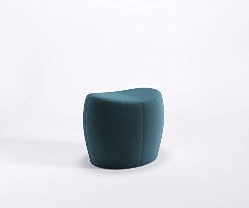 Designer Sitzpouf Only Lounge Pouf Hocker Fußstütze Schurwolle Main Line Flax, Farbe :MLF34 - Türkis-Blau