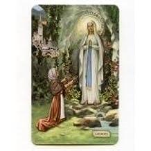 CARTE - CARTE avec prière plastifiée de Notre Dame de Lourdes