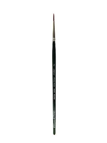 Silver Brush Argent Brosse série 2500s Ruby Brosse Ronde avec Manche Court en Satin, Rigide filaments synthétiques, Vert Chasseur, Taille 2