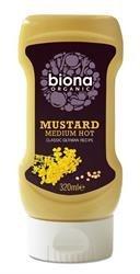 Biona Organic Mustard Medium Hot - Classic German - No Added Suga