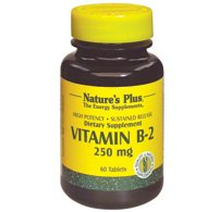 Nature's Plus, Vitamin B2, 250 mg, 60 Tablets from Nature's Plus