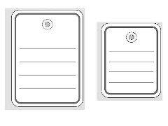 Preisvergleich Produktbild Herma 6842 Stückwarenanhänger (mit Öse/Faden/Splint, 48 x 65 mm) 1000 Stück weiß