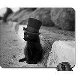 mad hatter kitty Mouse Pad, Mousepad (Cats Mouse Pad)