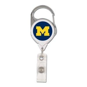 NCAA Michigan Wolverines Retractable Premium Badge Holder, Team Color, One Size