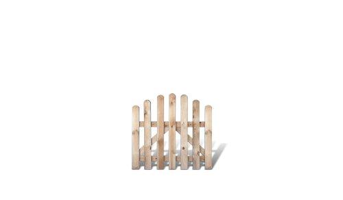 meingartenversand.de Klassische Friesenzaun Gartenpforte günstig Maß 100 x 95 auf 80 cm (Breite x Höhe) aus Kiefer/Fichte Holz, druckimprägniert + genagelt