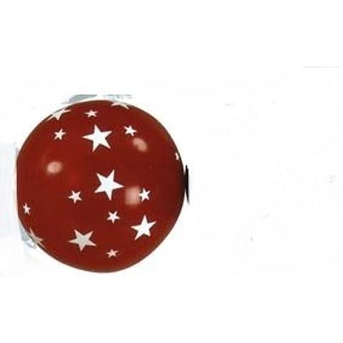 Gigante Globo de aire 55cm de diámetro con cierre especial Color Rojo Con Estrellas