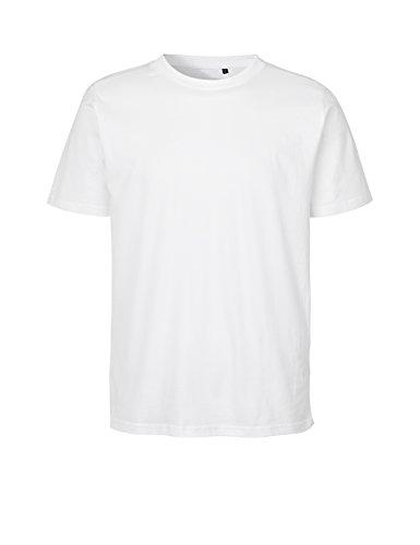 Green Cat Regular T-Shirt, 100% Bio-Baumwolle. Fairtrade, Oeko-Tex und Ecolabel Zertifiziert, Textilfarbe: Weiss, Gr.: L