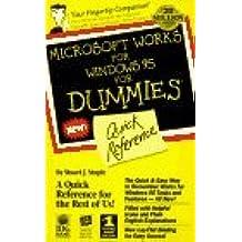 Microsoft Works Windows Dummies Quick Referende (For Dummies) 1st edition by Stuple, Stuart J., Dummies PR, Sosinsky, Barrie (1996) Spiral-bound