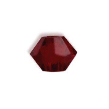Bicone Siam (I-Beads Swarovski-Perlen 5328 xilion bikone Siam 3mm (40))