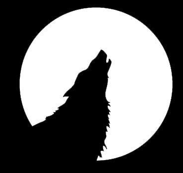 Kostüm Malvorlagen - LLI Howl at The Moon Wolf - Aufkleber Vinyl Sticker - Auto LKW Vans Walls Laptop - weiß - 14 x 14 cm - LLI1322
