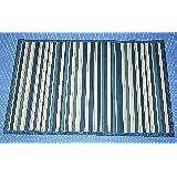 Tiendas Mi Casa - Alfombra bambú CAIRO (70x200 cm, Azul). Disponible en varios tamaños y colores.