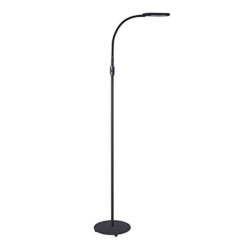 Aukey floor lamp led eye care standing lamp with brightness aukey floor lamp led eye care standing lamp with brightness adjustment knob flexible gooseneck for living room bedrooms and study by aukey aloadofball Images