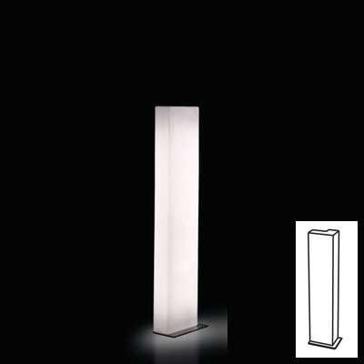 BRICK Leuchtsäule Brikett H 140 cm weiß