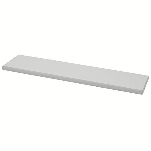DURAline Étagère avec Fixation Invisible, en Bois, laqué Blanc, 100 x 19 x 3 cm
