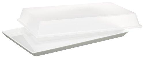 Arzberg Form 3330 Küchenfreunde Platte mit Deckel transparent 21 x 33cm im Geschenkkarton
