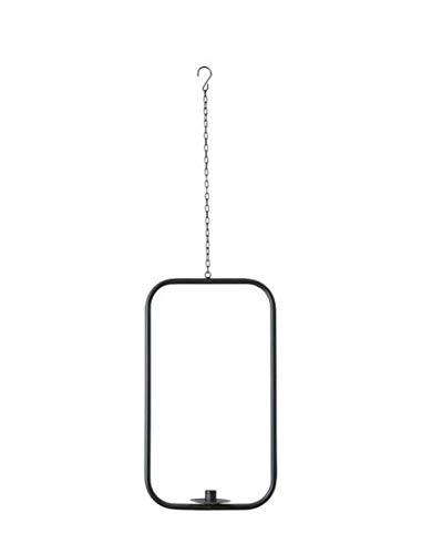 Lottashaus Kerzenhalter Metall rechteck schwarz Ring Kranz Kreis Hängedeko Rund Industrial Vintage Kerzenring für Eukalyptus