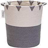 Hinwo Cesta almacenamiento cuerda algodón plegable
