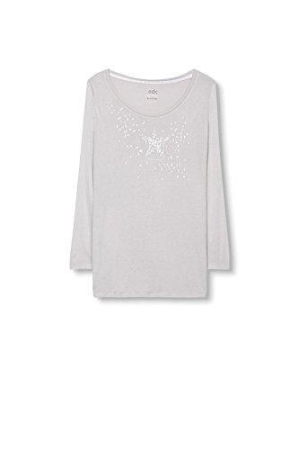 edc by Esprit 096cc1k028, T-Shirt Femme Gris (Light Grey 040)