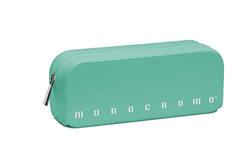 Pigna monocromo astuccio formato bustina in silicone, verde pastel
