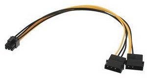 PCI Express Cable - Connector / Adapter Electricity Cable 6 Pin PCIe ATI, ASUS, NVIDIA