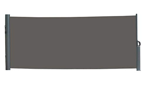 vanvilla Seitenmarkise Sichtschutz Sonnenschutz Windschutz Markise Seitenwand Anthrazit 180x300 cm