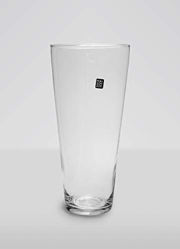 Maison Zoe Mundgeblasene und Handgefertigte Glasvase Iris - 30cm hoch - Blumenvase - Deko & Hochzeit - Iris Glas