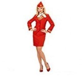 (Widmann wdm59131–Kostüm Stewardess, Rot, Small)