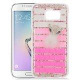 EagleCell Schutzhülle für Samsung Galaxy S6 Edge G925, 3D-Strassstein-Motiv, B3D24