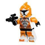 LEGO Star Wars Minifigure - Orange Bomb Squad Trooper with Blaster Gun (7913) by Star Wars