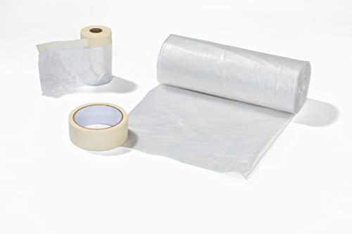 WAGNER Kit de masquage universel avec bâche de couverture 4 x 6 m, bande de masquage avec ruban...