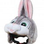 Hoxyheads - Copricasco da sci a forma di Coniglio, colore: grigio