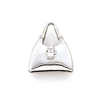 14ct weiß gold Handtasche Anhänger (14k Handtasche)